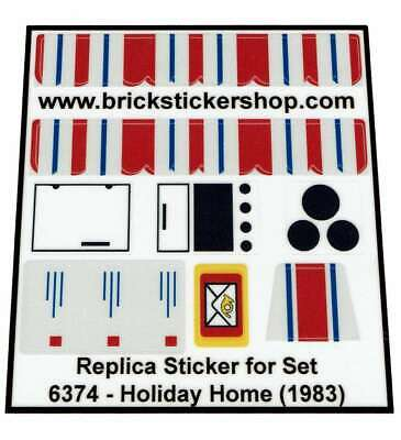 Town House Lego® Custom Transparant Pre-Cut Sticker for Classic Town set 6372