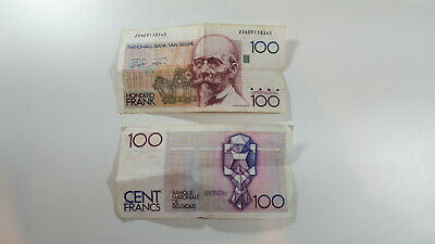 Collectable Belgium 100 Cent Francs banknotes x 2 as photos