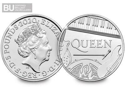Queen £5 Royal Mint Coin Official BU Five Pound Bohemian Rhapsody In Hand