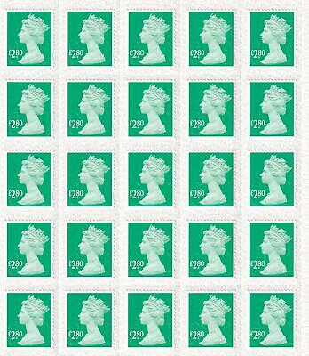 GB 50 x £2.80 Self-adhesive Stamps worth £140.00 Discounted Postage
