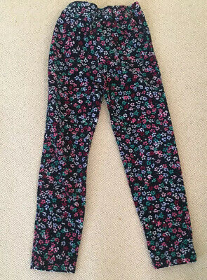 Joules Girls Floral Cord Jeggings/Trousers Age 7-8Y, Immaculate Condition