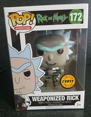 Rick And Morty Weaponized Rick Limited Chase Funko Pop Vinyl #172 Figure