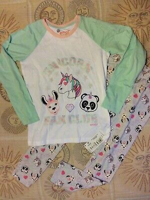 BNWT M&S Girls Age 11-12 Years Emoji Unicorn Pyjamas Long Sleeve £17