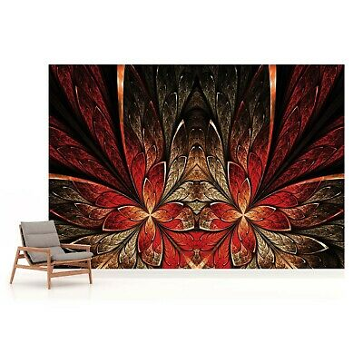 Abstract Red Design Photo Wallpaper Wall Mural Fleece Easy-Install Paper