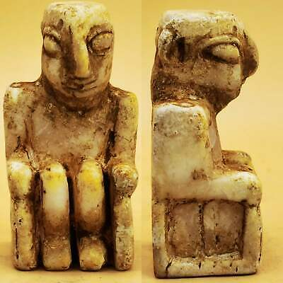 Near Eastern Backtrian Ancient Rare King stone Statue Idol # 109