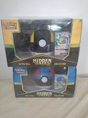New Sealed Pokemon Tcg Hidden Fates Bundle Ultra Great Ball Collection Card Game