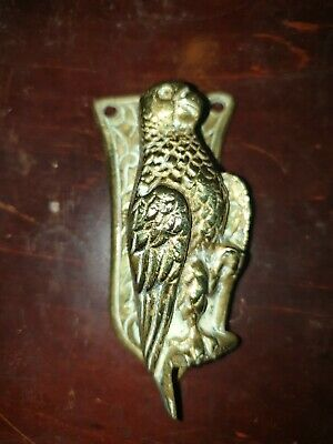 Vintage Brass Parrot Bird Door Knocker