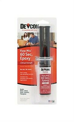 Devcon Home  Flow Mix 60 Second  High Strength  Epoxy  0.47 Oz. Pack Of 6