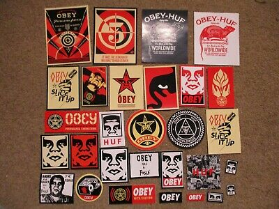 """SHEPARD FAIREY Obey Giant Sticker 3X4/"""" BACKSTAGE PASS from poster print"""
