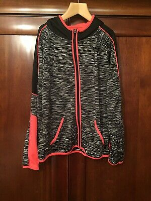 Girls Primark Young Dimension Sports Gym Hoodie Top Black Pink Age 10 11 Years