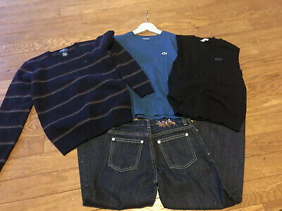 Boys age 10 Hugo Boss Tank Top, Ralph Lauren Jumper & Jeans & Lacoste T Shirt