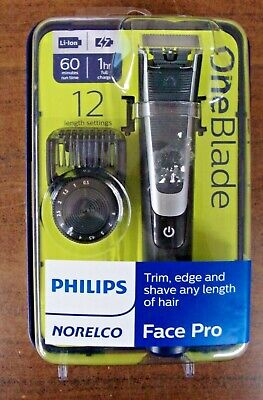 New Philips Norelco OneBlade Face Pro Hybrid Styler Trimmer + Shaver | QP6510/70
