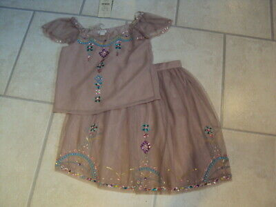 Bnwt Monsoon Girls Imogen Skirt & Top Set, Age 10 Years (140Cm)