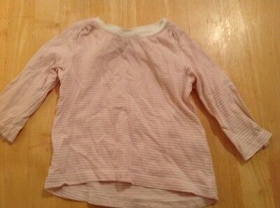 NEXT Pink & White Striped Top Age 6-9 Months