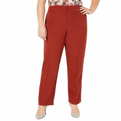 KASPER NEW Women's Plus Size Crepe Solid Dress Pants TEDO