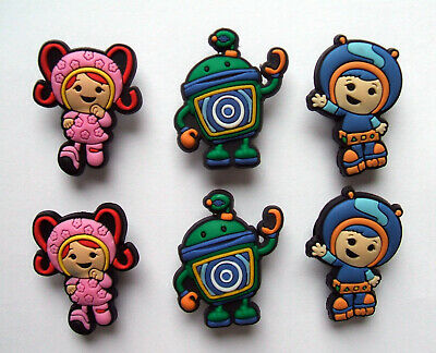SHOE CHARMS (M5) - PRESCHOOL MATHS CHARACTERS (6UM) - Pack of 6