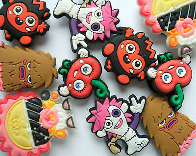SHOE CHARMS (M4) - inspired by CUTE MONSTER CHARACTERS - (10MOSHI) - Pack of 10
