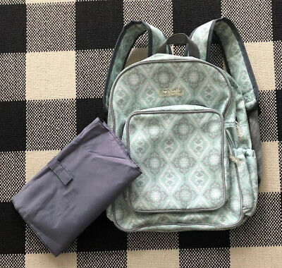 """Bumble Collection Getaway Backpack Diaper Bag """" Majestic Mint """" Never Used"""