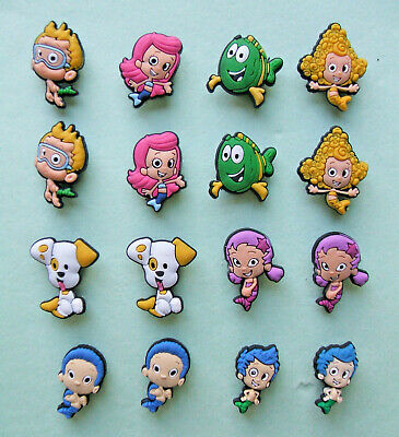 SHOE CHARMS (M3) - inspired by GUPPY FISH CHARACTERS - (16BG) - Pack of 16