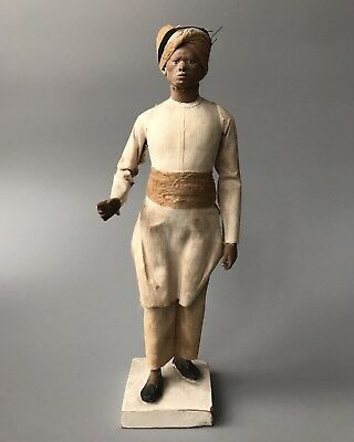 RARE! 19th Century Indian Company School Servant/ Trade People Terracotta Figure