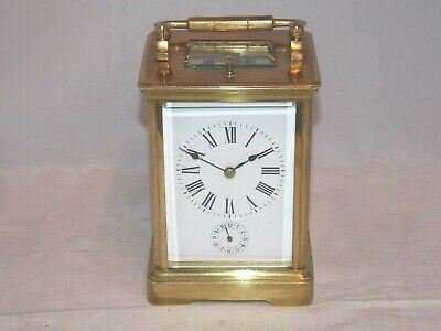 Vintage 8Day Carriage Clock With Repeater And Alarm In Very Good Working Order.
