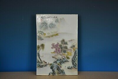 Fine Antique Chinese Porcelain Plaque Famille Rose Marked Master Wang Yeting C28