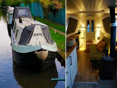 45ft Narrow Boat Bertie Cruiser Stern Newly Restored