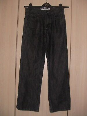 FLIPBACK SCRATCH STRAIGHT BLACK JEANS ~ AGE 12/HEIGHT 152cm ~ BHS