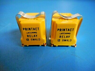 Vintage Executone Printact Latching Relay 12 BW4LD (Lot of 2)