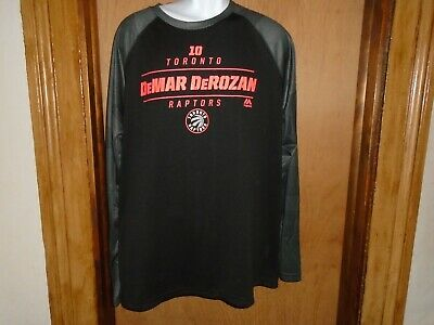 Toronto Raptors NBA DeMar DeRozan Majestic Men's Long Sleeve Shirt Size XL NWT