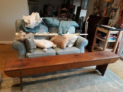 Vintage Antiquered pinechurch bench used good condition. Collection only