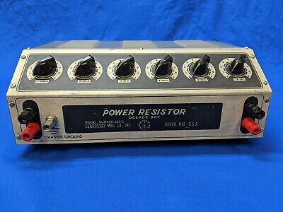 Clarostat 240-C Power Resistor Decade Box, in Specifications, with Test Results