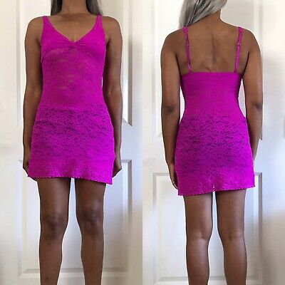 Victorias Secret Stretch Lace Slip Size Small The Lacie Pink Chemise