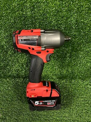 "Milwaukee M18 FMTIWF12 18v 5.0Ah Skin & Battery Impact Wrench 1/2"" ##217262"