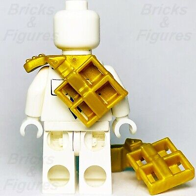 Lego Ninjago 3x Pearl Gold Armor Shoulder Pads with Scabbard for Two Katanas