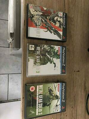 Metal Gear Solid - Sons of liberty, Snake eater, Subsistence PS2