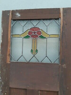 vintage leadlight  cupboard doors