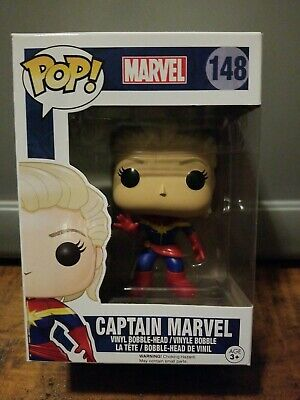 🔥#148 Funko POP! CAPTAIN MARVEL VINYL BOBBLE-HEAD