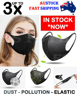 Face Masks Mouth Mask Anti-Dust Muffle  Washable Cycling Reusable Unisex 1/3Pcs