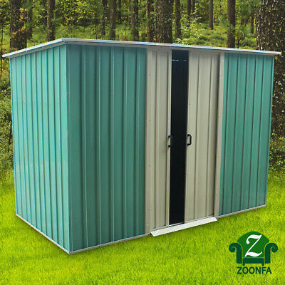 Mighty Metal Garden Shed Outdoor Storage House Tool Sheds Flat Roof Shed