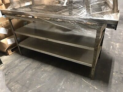 Stainless Steel Worktop With Shelving