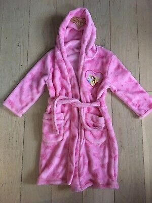 Disney Pink princess girl's soft fleece dressing gown. Age 4-6 years