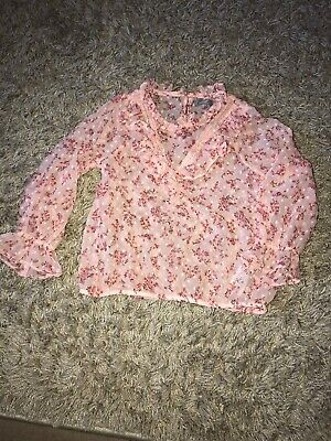 Next Girls 4 Years Pink Floral Blouse Top
