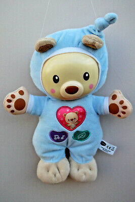 "Vtech Baby 12"" SLEEPY GLOW BEAR Soft Plush Baby Toy"