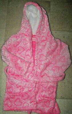 Girls  Dressing Gown  age 3-4 new primark pink hearts