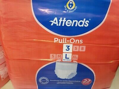 Bundle 4 Brand New Sealed Packs of  22 Attends Incontinence Pants S. Large 6A