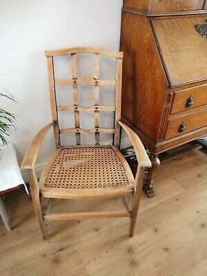 Stripped Oak Edwardian Hall Chair