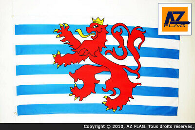 Luxembourg Civil Ensign Lion Flag Large 5 x 3 FT Federal Crest Coat Of Arms