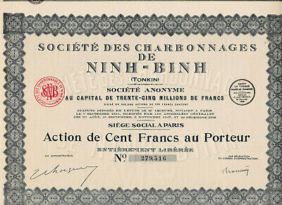 Indochine / Tonkin / Lot : 4 X Societe Des Charbonnages De Ninh - Binh