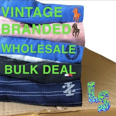 Vintage Branded Shirt, Jumper And Vest Job Lot Bulk Deal Wholesale Mixed Graded!
